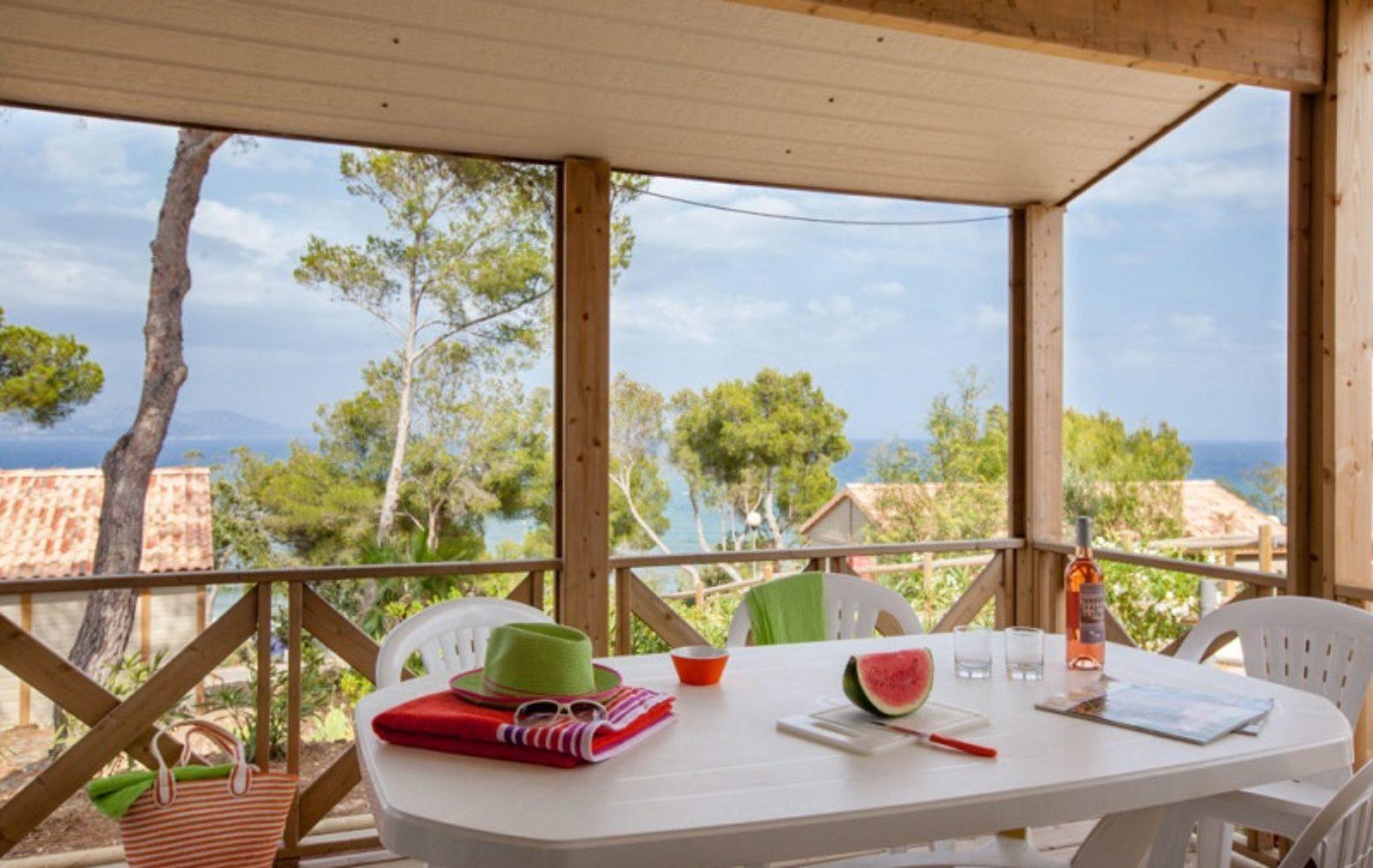 Terrasse et vue mer Azur et Rêve
