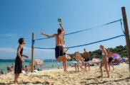 Beach volley sur la plage