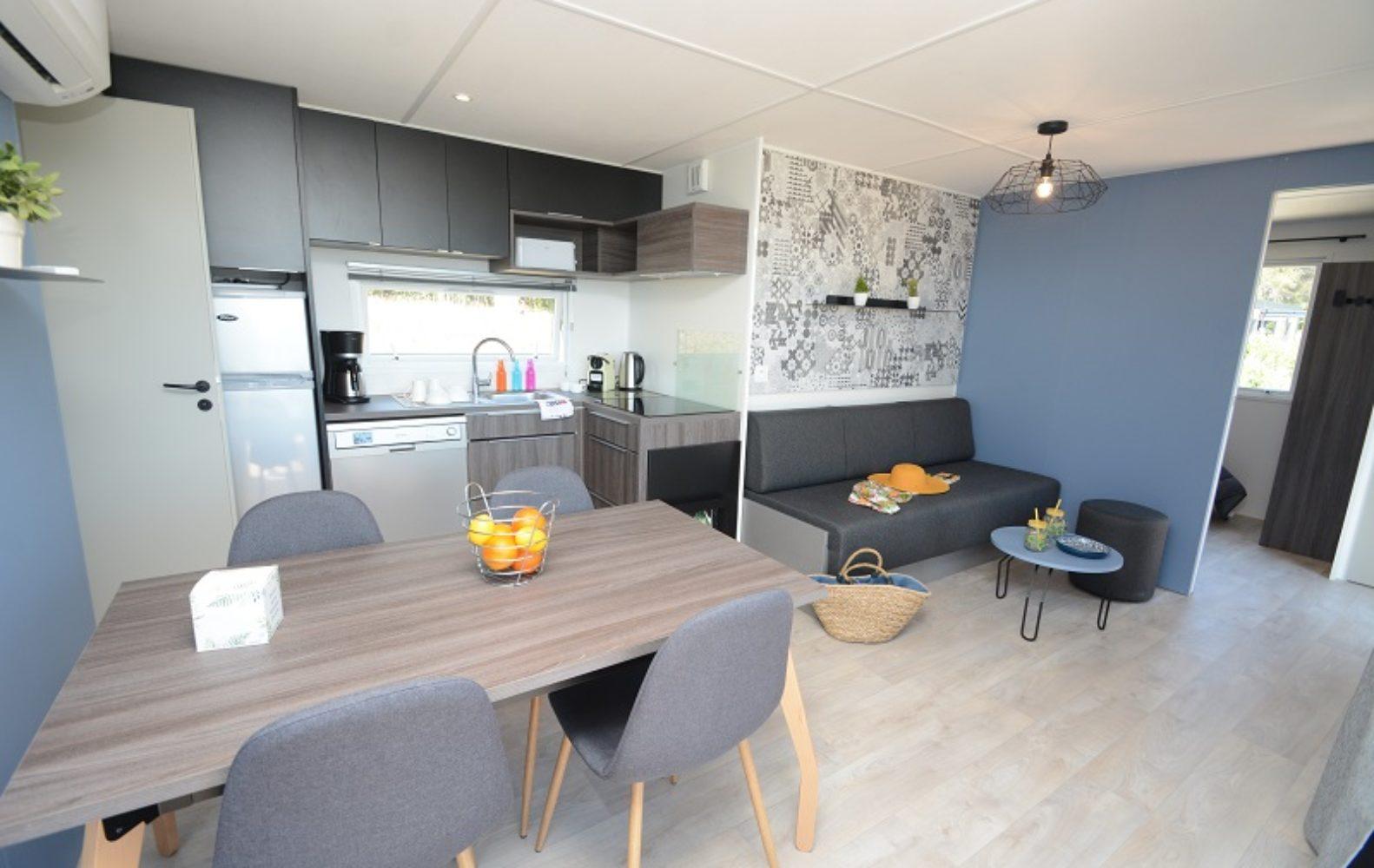 Salon, salle à manger et cuisine Oasis